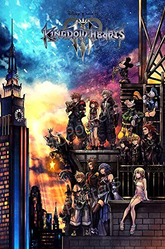 Posters - Kingdom Hearts III 3 PS4 Xbox ONE Poster Glossy Finish - NVG259 12x18inch(30x45cm)