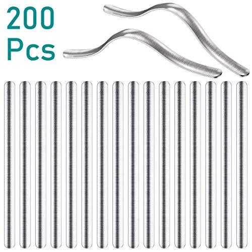 EXTSUD Metallbügel für Mund-Nasen-maske DIY, Nasenbügel, Nose Bridge Strip Zubehör DIY 90*5mm aus Aluminium, 200 Stück