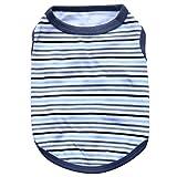 YiiJee Mode Vêtements pour Chien D'été Animaux Rayure Gilet Chiot Imprimé T-Shirt comme Image3 S