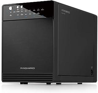 "Mediasonic ProRaid HFR7-SU3S2 4 Bay 3.5"" SATA Hard Drive Enclosure – USB 3.0 & eSATA – Renewed"