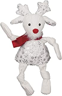 HuggleHounds Sparkle n Shine Reindeer Knottie Dog Toy, Small