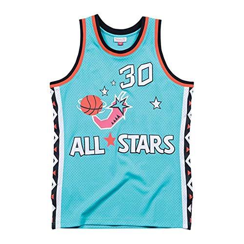 NBA Basketball Trikot für Herren, Retro Basketballtrikot Swingman Jersey, 96 All-Star (Scottie Pippen) # 30, Gym Weste Sport T-Shirt, XS-XXL (Size : XXL)