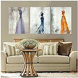 Pintura de la Lona Arte de la Pared Decoración del hogar Vestido de Mujer Figura Bonita Impresión Ab...