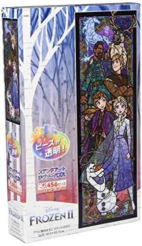 テンヨー ジグソーパズル ディズニー アナと雪の女王2 ステンドグラス ぎゅっと456ピース (18.5x55.5cm)