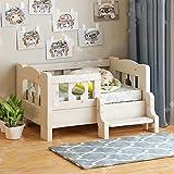 Perro mascota Habitación con cama de madera cama del animal doméstico de madera sólida del gato cama del perro cama de madera maciza, escaleras, Fácil Instalación, for todas las estaciones, camas for