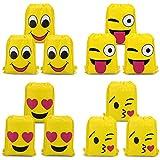 Konsait Emoji Bolsa de Cuerdas para Infantil (12Pack), Emoji Cordón Mochila Bolsas Regalo Cumpleaños Deporte Gimnasio Backpack para niños Niñas Fiesta de cumpleaños favores Decoraciones