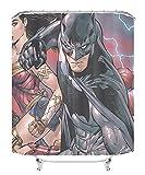 YITUOMO Nationalheld Duschvorhang wasserdicht Polyester Schimmel Stoff Duschvorhang Schimmel Duschvorhang Batman Anime Charaktere 180x180cm