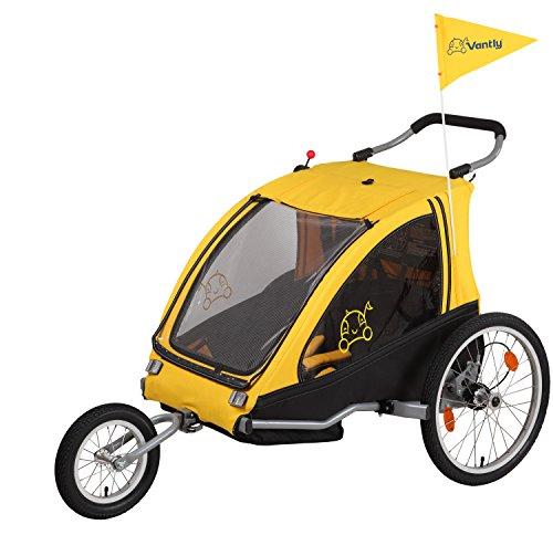 Vantly Kinderanhänger Sport, Zweisitzer, Dual, Gefedert, 61000600