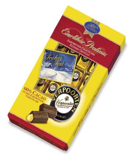 Verpoorten-Pralinés Zartbitter mit Weihnachtskarte, 1er Pack (1 x 200 g)
