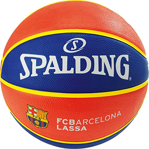Spalding EL Team FC Barcelona SZ.7 (83-776Z) Basketballs, Juventud Unisex, Blue/Red, 7