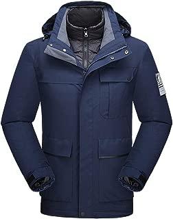 Stoota Men's Mountain Waterproof Ski Jacket Windproof Rain Jacket Liner Detachable Sport Coat