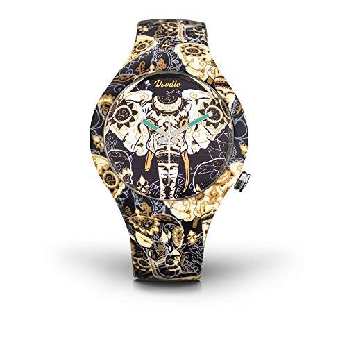 DOODLE Watch? DOOR002 - Reloj de pulsera (correa de silicona, 39 mm de diámetro), diseño de elefante asiático