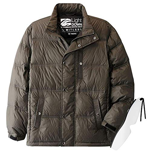 あったか カジュアル ダウンジャケット C907551 しおり型ルーペ付き (Mサイズ, カーキー)