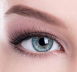 Lentes de contacto de color azul mejorado. Ideal para cambiar la belleza, el glamour, el color de los ojos. De Colour Perfection® TM. Suave sin graduación.