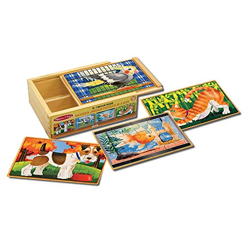 Melissa & Doug Wooden Jigsaw Puzzles in...