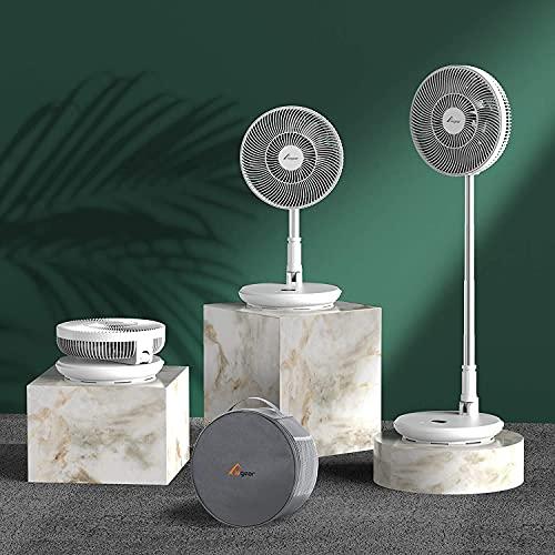 Elegear 2 in 1 Ventilatore da Piantana e Tavolo Portatile, Ventilatore USB Telescopico...