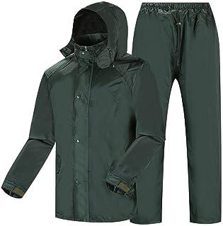 RYY Raincoats Rain Suit,Waterproof Suit for Men Hooded Reusable Rainwear, Outdoor Work Motorcycle Golf Fishing Hiking (Col...