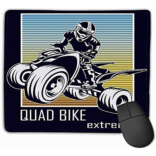 Standaard grootte Rechthoek Niet-slip Rubber Mousepad 30X25CM Quad Bike extremeprint Tekening