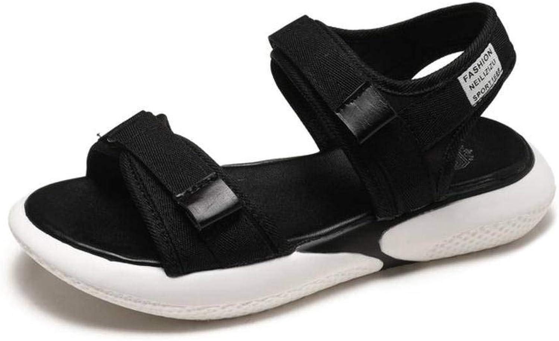 Women's Ladies Casual Lightweight Sandal shoes Slim Buckle LowHeeled Summer Beach Open Toe Flats & Loafers Rubber Sole Suede Upper Sandal Flip Flops for Women, LX