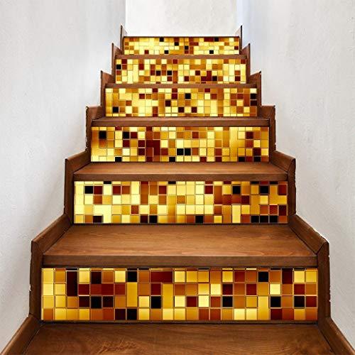Deng Xuna Wandaufkleber Treppe Aufkleber Set Mode DIY Treppenhaus Wand Treppen Aufkleber Abziehbild Tapezieren Selbstklebende Entfernbare Home Deko für Wohnzimmer Gehweg Dekor 18×100cm(D)