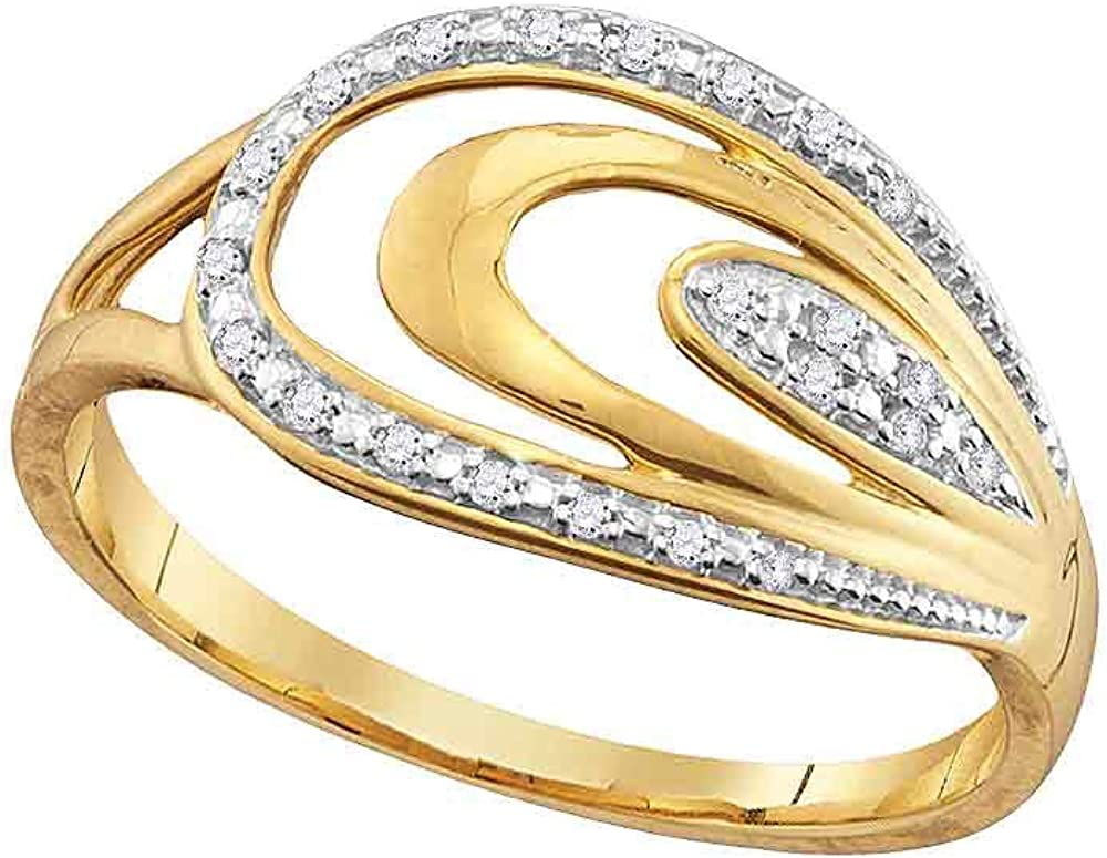 The Diamond Deal Discount mail order 10kt Yellow Gold Round Womens Fash Branded goods Oval