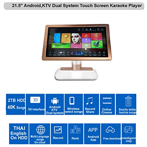 Sale!! HAJURIZ 19'' Touch Screen Karaoke Player, 40K English,Thai Songs on 2TB HDD,240K Multi-La...