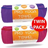 Limber Stretch Yoga Towel Purple & Pink TWIN PACK- TWO TOWELS