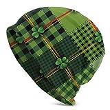 Sherly Yard Bonnet Beanie Classique plissé,Thème de la Saint-Patrick,Bonnet Beanie Long,Unisexe