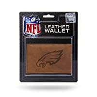 NFL Rico Industries Leather Trifold Wallet with Man Made Interior, Philadelphia Eagles
