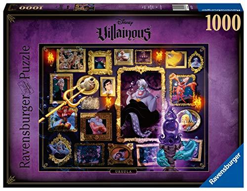 Ravensburger Puzzle 1000 Pezzi, Ursula - La Sirenetta, Collezione Disney Villainous, Puzzle Disney, Jigsaw Puzzle per Adulti, Stampa di Alta Qualità