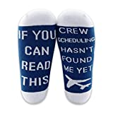MBMSO Pilot Gifts Trust Me I'm a Pilot Socks Aviation Gifts Left Rudder Right Rudder Socks Aviation Themed Gifts (2 Pairs Crew)