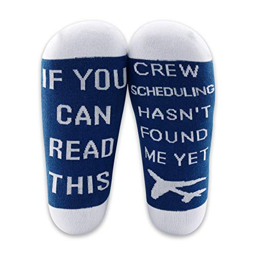MBMSO Pilot Gifts Airplane Socks Aviation Gifts Airplane Themed Gifts Crew Scheduling Premium Dress Socks (1 Pairs Pilot Crew Scheduling)