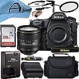 Nikon D850 DSLR Camera 45.7MP CMOS Sensor with AF-S NIKKOR 24-120mm f/4G ED VR Lens, SanDisk 128GB Memory Card, Case, Tripod and A-Cell Accessory Bundle (Black)