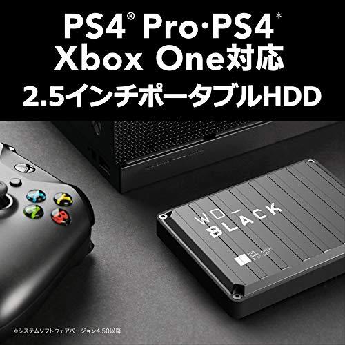 WDポータブルHDD4TBWD_BlackP10USB3.2Gen1/3年保証【PS4/XboxOneメーカー動作確認済】WDBA3A0040BBK-WESN