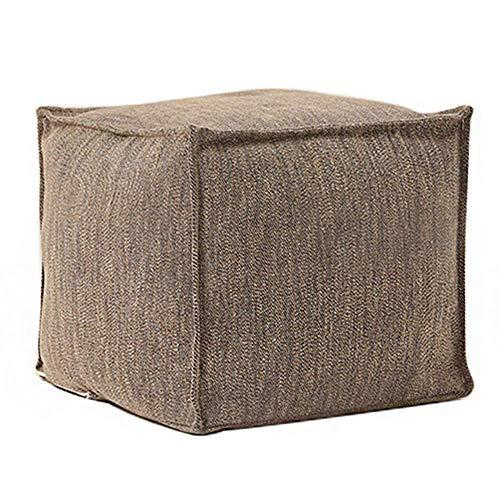 WJYY Art und Weise kreative Kleinmöbel Anti-Rutsch-Hocker einfacher quadratischen Stoff Couchtisch Hocker Schlafzimmer Wohnzimmer ändern Schuh Bank Pedal Sitzmultifunktionshaushalt Kreative,Beige,45
