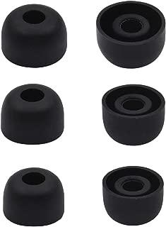A-Focus イヤーピース シリコンイヤーチップ B&O Play 完全ワイヤレスイヤホンBeoplay E8 イヤホン対応、XS/S / M 3ペア セット シリコン製チップ イヤホンチップ イヤーパッド イヤーチップ For B&O E8 ブラック