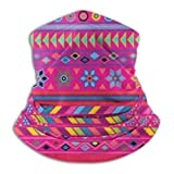 Peruvian Stripe Hot Pink Ski Mask Cold Weather Face Mask Neck Warmer Fleece Hood Winter Hats