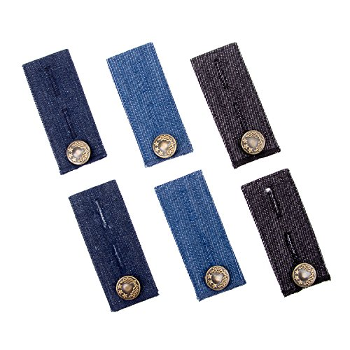6 Stück Denim Hosen Bunderweiterung für Jeans, Hosen und Rock