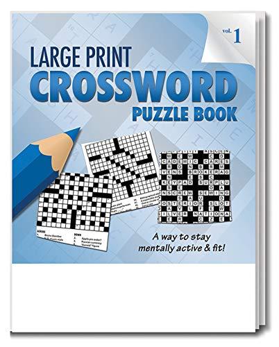 벌크(25팩)에 있는 안전 자석 대형 인쇄 십자말 퍼즐북 - 시각장애인 및 노인용 게임 - 치매 활동 - 요양원 거주자를 위한 선물