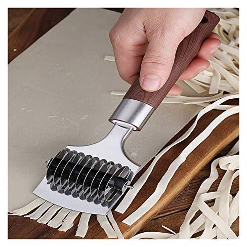 2pcs manuel en acier inoxydable Maker nouilles 0.5cm Pasta Maker Pâtes nouilles Presse manuelle Robots culinaires outil de cuisine Machine A Pates Fraiche (Specification : 2Pcs 9 Blade)