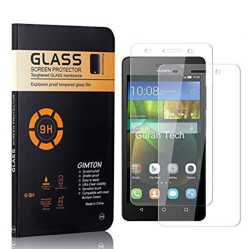GIMTON Displayschutzfolie für Huawei Honor 4C, 9H Härte, Blasenfrei, Anti Öl, Ultra Dünn Kratzfest Schutzfolie aus Gehärtetem Glas für Huawei Honor 4C, 2 Stück