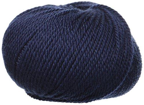 Lane Mondial BIO Wolle, Col. 417–Navy Blau, ökologischen Wolle, Strickgarn, Häkelnadel,50 g (pack of 20)