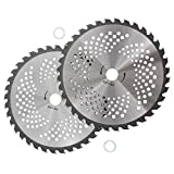 """7. KIPA 2-Pack Brush Cutter Trimmer Blades Carbide Tip 9"""" Diameter 36 Tooth with 20mm Arbor Washer for Many Stihl Husqvarna Sears Echo Poluan Weed Eater Brusch Trimmer Durable (A Type 9"""" Diameter 36 T)"""