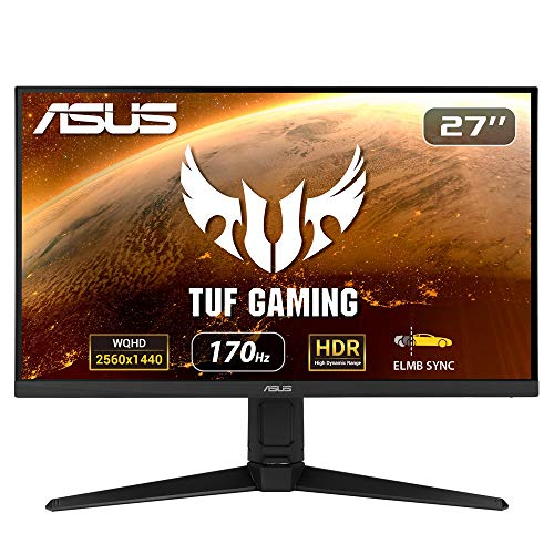 ASUSTek TUFゲーミングモニター VG27AQL1A (27インチ/PS5 対応/WQHD/IPS/1ms(MPRT)/170Hz/HDR/NVIDIA ULMB/DP,HDMI)