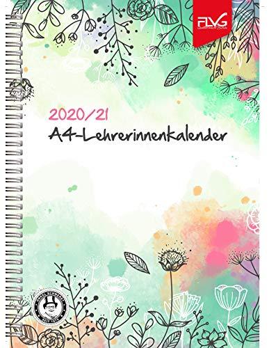A4 Lehrerinnenkalender FLVG Verlag 2020/2021 Lehrer Kalender A4 Sonderedition Blumenmotiv …