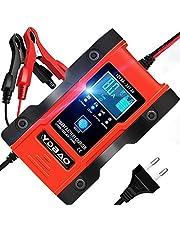 YDBAO Chargeur de Batterie Intelligent Automatique à 7 Étages 6A 12V/24V Efficace Fonction Mémoire et Réparation pour Auto Moto etc Lithium LiFePO4 et Plomb