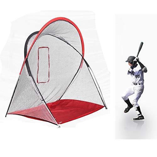 Kapler Baseball-Softball Übungsnetz zum Trainieren von Schlägen und Baseballschlägern, Baseball Übungsnetz, 7.2' x 4.6' x 7' / 220cm(L) x140cm(W) x210cm(H)