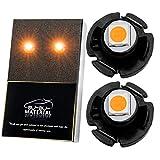 ぶーぶーマテリアル T3 LED アンバー 明るいパワーバルブ メーター球 パネル球 12V オレンジ 4個