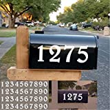 Diggoo Reflective Mailbox Numbers Sticker Decal Die Cut Elegant Style Vinyl Number 2' Self Adhesive 4 Sets for...