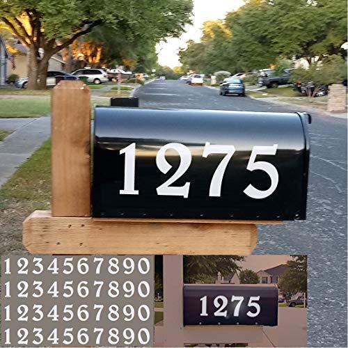 Diggoo Reflective Mailbox Numbers Sticker Decal Die Cut Elegant Style Vinyl Number 2